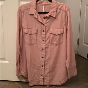 NWOT Free People button down shirt